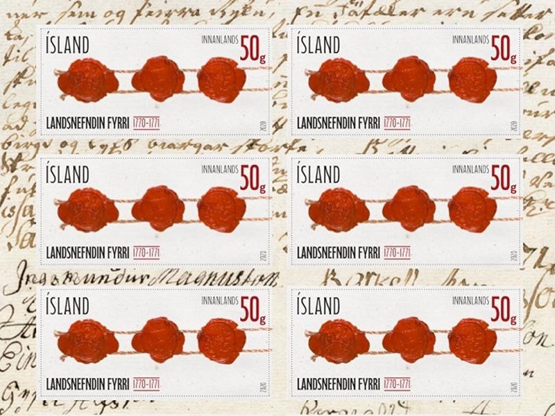 Frímerki um landsnefndina 1770-1771