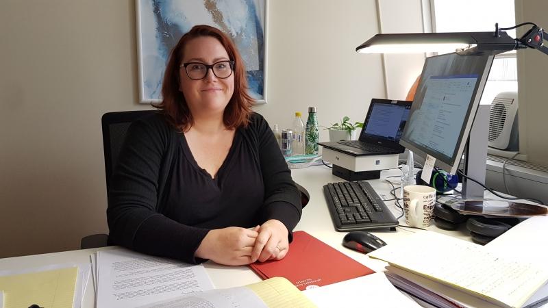Helga Jóna Eiríksdóttir skjalavörður.