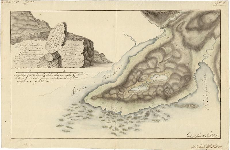 Kort Þorkels Fjeldsted af Reykjanesi í Barðastrandarsýslu