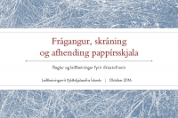Frágangur, skráning og afhendingu pappírsskjala. Reglur og leiðbeiningar fyrir ríkisstofnanir