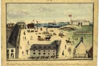 Höfnin í Christiansted á St. Croix 1815