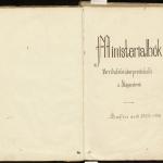 Titilsíða prestsþjónustubókar Breiðabólstaðarprestakalls á Skógarströnd 1868-1916