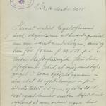 ÞÍ. Hagstofa Íslands XXVI. Skjöl um sambandsmálið 1918 II. Bréf frá Gísla Sveinssyni sýslumanni til Hagstofu Íslands 16. des. 1918.
