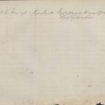 Áritun sýslumanns aftan á vottorð séra Sveins Eiríkssonar í Ásum þegar það var lagt fram í rétti 31. mars 1903.