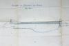 Teikning af Ölfusárbrú frá enska málmsmíðafyrirtækinu Vaughan & Dymond frá Newcastle í Englandi.